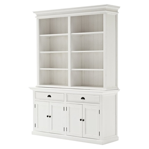 Halifax Hutch Bookcase Unit - Pure White