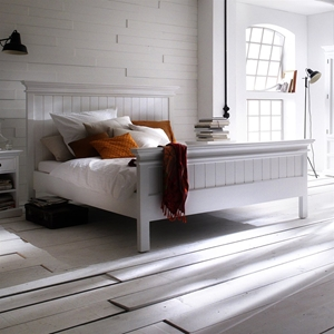 Halifax King Bed - Pure White
