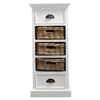 Halifax Storage Unit with Basket Set - Pure White - NSOLO-CA589