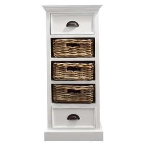 Halifax Storage Unit with Basket Set - Pure White