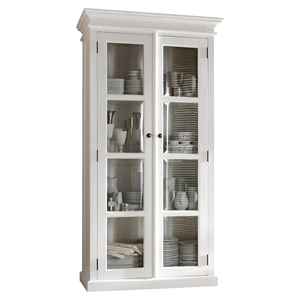 Halifax Double Vitrine - Pure White