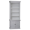 Halifax Single Bay Hutch Unit - Pure White