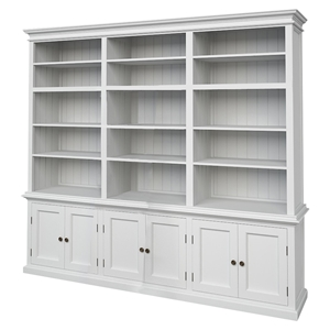 Halifax Triple Bay Hutch Unit - Pure White