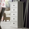 Halifax 5 Drawers Chest - Pure White - NSOLO-CA616