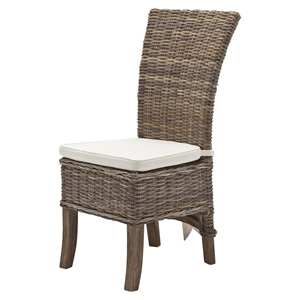 Wickerworks Salsa Dining Chair with Cushion - Natural Gray (Set of 2)