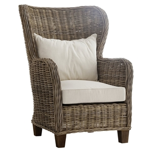 Wickerworks King Chair with Cushions - Natural Gray