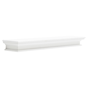 Halifax Floating Extra Long Wall Shelf - Pure White