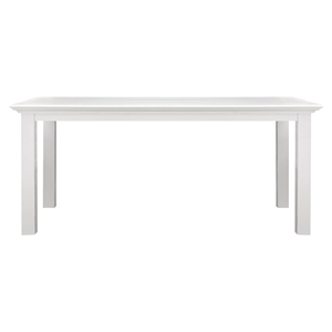"Halifax 63"" Rectangular Dining Table - Pure White"