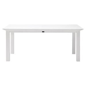 "Halifax 71"" Rectangular Dining Table - Pure White"