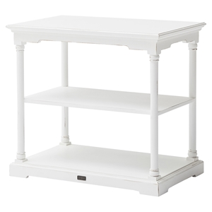 Bordeaux Small Kitchen Table - 2 Boxes, White Distressed