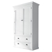 Halifax Wardrobe - 2 Doors, 2 Drawers, Pure White - NSOLO-W001