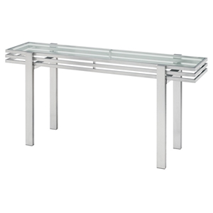 Linear Glass Console Table