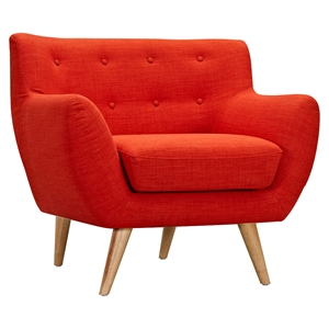 Ida Button Tufted Upholstery Armchair - Retro Orange