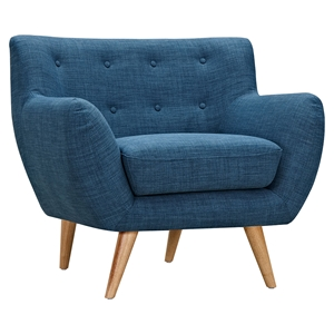 Ida Button Tufted Upholstery Armchair - Stone Blue