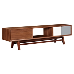 Grane Media Unit - Walnut