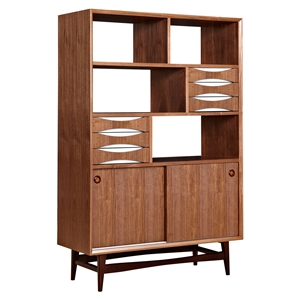 Hanna Storage Unit - Walnut and White