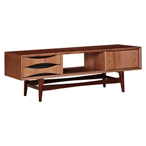 Hanna Media Unit - Walnut and Black
