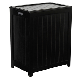 Hollister Mahogany Laundry Basket Hamper
