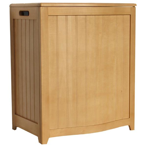 Timberlake Natural Laundry Hamper - Bowed Front