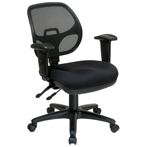 Pro-Line II ProGrid Back Ergonomic Task Chair with Adjustable Padded Armrests