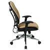 Space Seating 32 Series Taupe Leather Manager's Chair with Polished Aluminum Base - OSP-32-88P918P