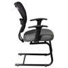 Space Seating 55 Series Professional Visitor's Chair with Sled Base - OSP-55-7V30