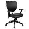 Space Seating 55 Series Black Vinyl Office Chair - OSP-5500V