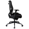 Space Seating 818 Series Executive High Back Black Office Chair - OSP-818-31G9C18P