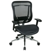 Space Seating 818A Series Executive High Back Mesh Chair with Polished Aluminum Base - OSP-818A-11P9C1A8