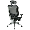 Space Seating 818A Series Executive Mesh Office Chair with Adjustable Headrest - OSP-818A-11P9C1A8-HRX818