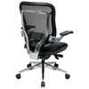 Space Seating 818A Series Executive High Back Leather Seat Chair with Cantilever Arms - OSP-818A-41P9C1C3