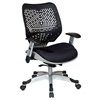 Space Seating 86 REVV Series Unique Raven Black Manager's Chair - OSP-86-M33C625R