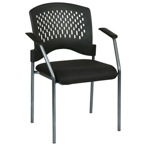 Pro-Line II Stacking Visitors Chair with Ventilated Plastic Wrap Around Back