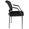 Pro-Line II Stacking ProGrid Contoured Back Visitor's Chair with Nylon Arms - OSP-86710