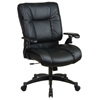 Space Seating 93 Series Deluxe Black Leather Conference Chair - OSP-9333