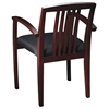 Napa Slat Back Mahogany Finish Guest Chair (Set of 2) - OSP-NAP-992-MAH