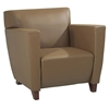 Contemporary Armchair, Loveseat, and Sofa Set in Taupe Leather - OSP-SL8871-SL8872-SL8873