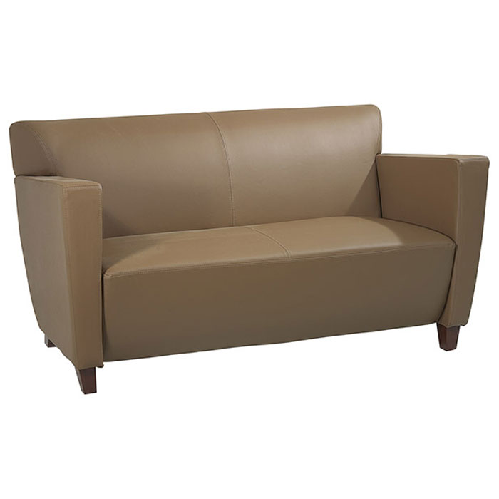 Contemporary Armchair, Loveseat, and Sofa Set in Taupe ...