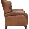 Cambridge Leather Recliner - Button Tufted, Shalimar Saddle - OHF-2568-10SHLSAD