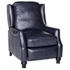 Charles Recliner Chair - Turned Feet, Baron Navy Leather