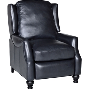 Charles Leather Recliner - Vintage Navy