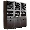 Modulare Wooden Wine Cabinet Dark Mahogany Pad Mod Wine2 Dk