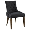 Myrtle Beach Dining Chair - Button Tufts, Charcoal Linen - PAD-MYR12-C44