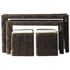 Nesting Console Table and Ottoman Set - Abaca Twist - PAD-NES07-ABSSET