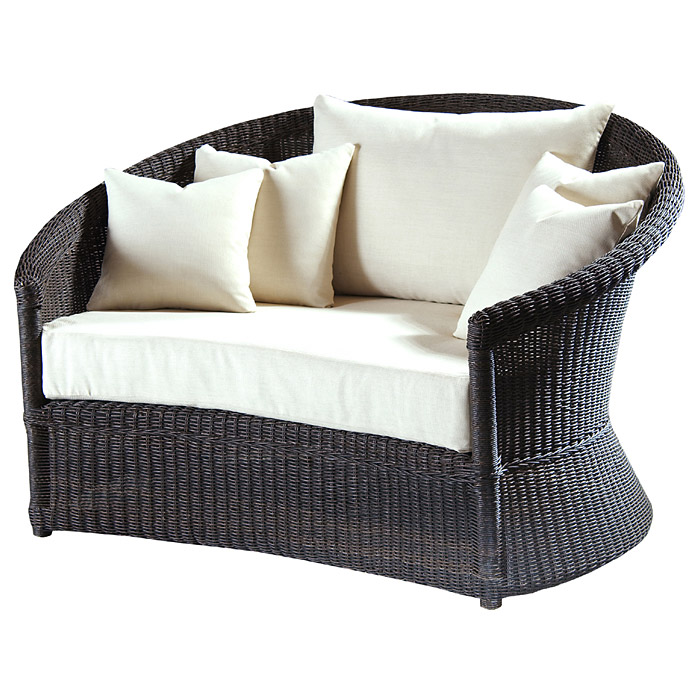 outdoor haven wicker lounge chair and ottoman set dcg stores. Black Bedroom Furniture Sets. Home Design Ideas