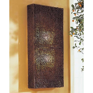 Wicker Wall Lamp - Dark Brown Medium