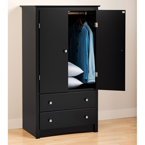 Sonoma Armoire with 2 Doors - Black