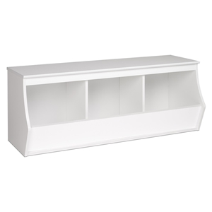 Monterey Stackable 3-Bin Storage Cubby - White