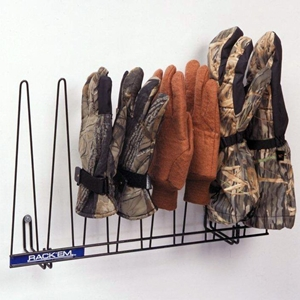 4 Pair Glove Rack - Coated Wire, Black