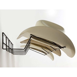 Cowboy Hat Rack - Coated Wire, Black